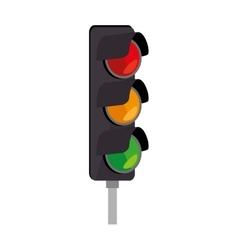 Light traffic signal street stoplight icon vector