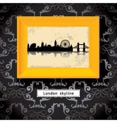 london picture frame vector image