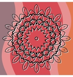 Mandala art based cover invitation or postcard vector image