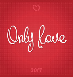 Only love vector