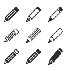 Pen icon set vector image vector image