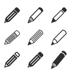 Pen icon set vector image