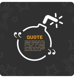 Quote shaped like a bomb vector