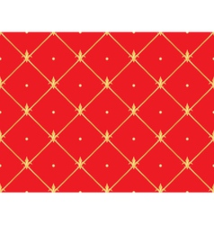 Red pattern with golden royal lilies vector