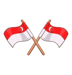 Singapore flag icon cartoon style vector