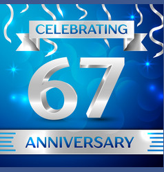 sixty seven years anniversary celebration design vector image vector image