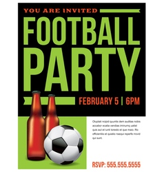 Soccer Football Party Inivitation Template vector image vector image