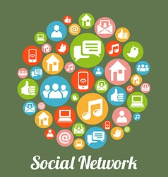 SocialM vector image
