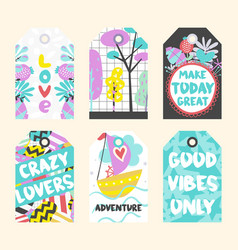 summer tags collection vector image vector image