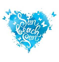 sun beach fun heart 380 vector image vector image