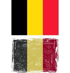 The Belgian grunge flag vector image