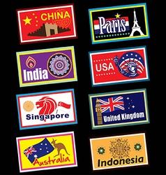 Travel label vector