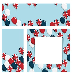 uk balloon banners vector image vector image