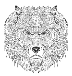 Wolf lineart vector image