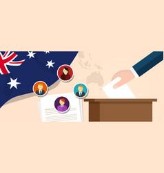Australia democracy political process selecting vector