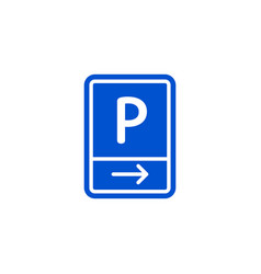 Parking zone to right roadsign isolated vector