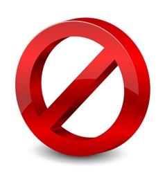 3d forbidden sign vector image