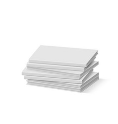 Stack of blank gray books on white presentation vector