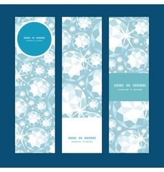 Shiny diamonds vertical banners set pattern vector