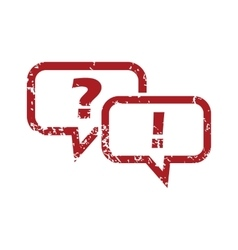 Question answer red grunge icon vector