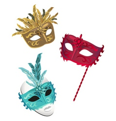 french masks vector image