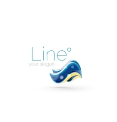 Abstract wave line logo vector image