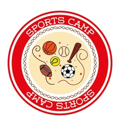 Sports camp vector