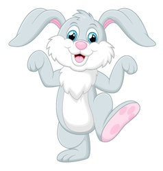 Happy rabbit cartoon vector