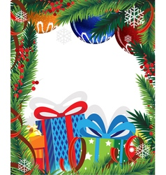 Christmas presents and christmas tree vector