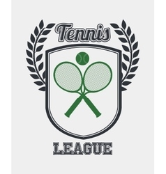 Tennis league design vector