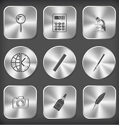 magnifying glass calculator lab microscope globe vector image