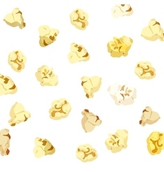 Popcorn falling on white background vector