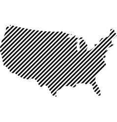 Usa map of thin lines vector