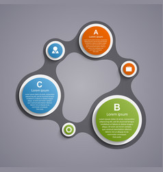 Abstract circle infographic in the form of vector