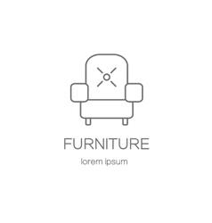 Armchair furniture logotype design templates vector image vector image