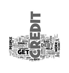be wary of phony credit scams text word cloud vector image vector image