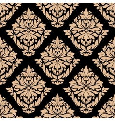 Beige colored floral seamless pattern vector image vector image