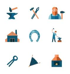 Blacksmith icon set vector