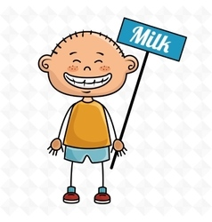 boy milk box vector image