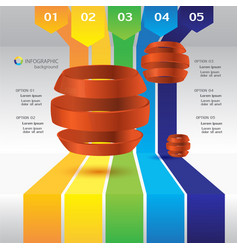 business infographic design concept vector image