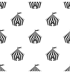 Circus tent icon in black style isolated on white vector