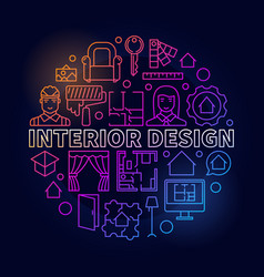 colorful interior design vector image vector image