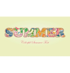 Decorative Floral Text Summer vector image vector image
