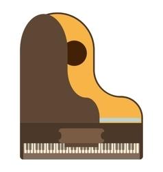 Grand piano icon flat style vector