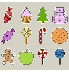 Holiday candy vector