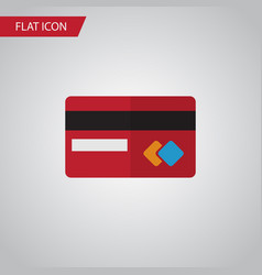 Isolated credit card flat icon payment vector