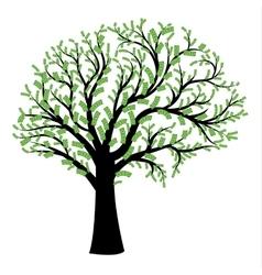 Money tree in shape of human brain vector