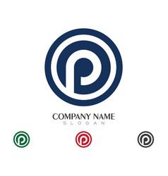 P letter logo business vector