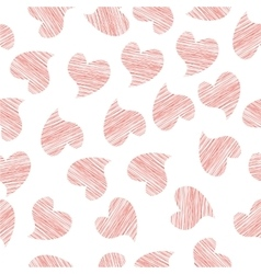 Seamless background of textile with hearts vector