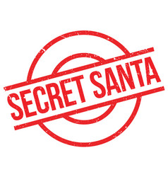 Secret santa rubber stamp vector
